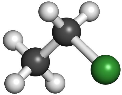 O cloroetano pode ser obtido em reações de adição com halogenidretos
