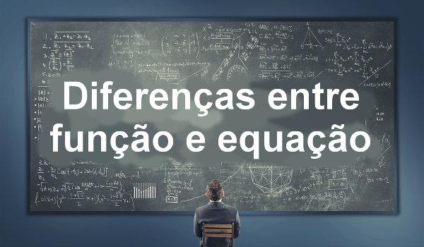 As principais diferenças entre função e equação referem-se especialmente a seus resultados