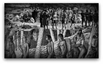 A submissão e o extermínio foram as principais características dos primeiros contatos entre portugueses e indígenas