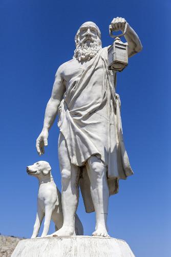 Para Diógenes, o ser humano necessitaria apenas do básico para ter uma vida feliz