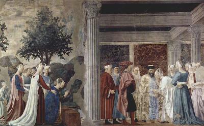 O pintor italiano Piero della Fracesca revolucionou a pintura ao introduzir nela o princípio da perspectiva