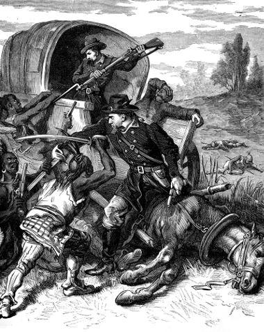 O confronto entre colonos e índios no Velho Oeste americano era constante