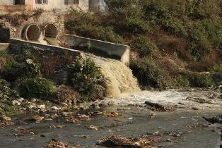 A poluição da água pode levar a um processo de eutrofização