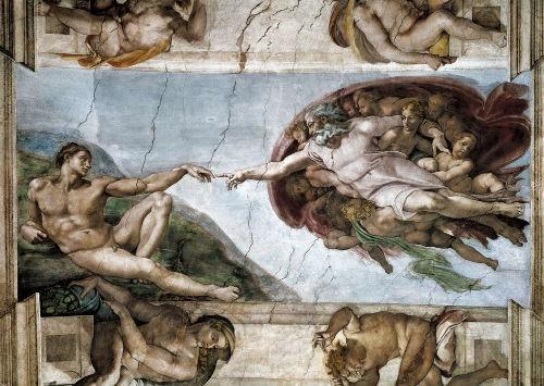 Detalhe do teto da Capela Sistina, pintado por Michelangelo Buonarroti