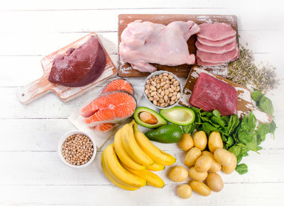 As vitaminas do complexo B podem ser encontradas em diferentes alimentos