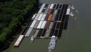 Hidrovia no rio Mississipi (EUA).