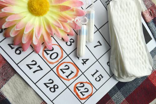 O ciclo menstrual tem a duração de 28 a 31 dias