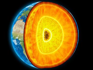 A estrutura interna da Terra é segmentada em várias camadas