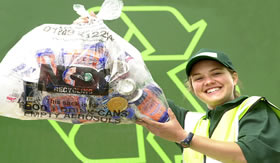 Faça sua parte: jogue o lixo no lixo.