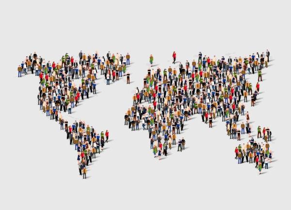 As taxas de natalidade e de mortalidade representam a dinâmica da população mundial.