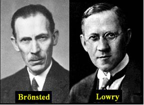 Brönsted e Lowry, sem se conhecerem e morando em países diferentes, propuseram na mesma época a mesma teoria para ácidos e bases.