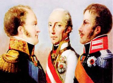 Santa Aliança: a união dos monarcas europeus contra os levantes inspirados na Revolução Francesa.