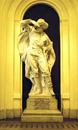 Estátua de Raposo Tavares, um dos principais bandeirantes paulistas