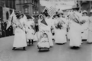 Passeata pelo voto feminino em Nova York, 1912.