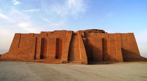 Reconstrução do zigurate de Ur, no Iraque