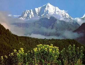 Paisagem do território tibetano.