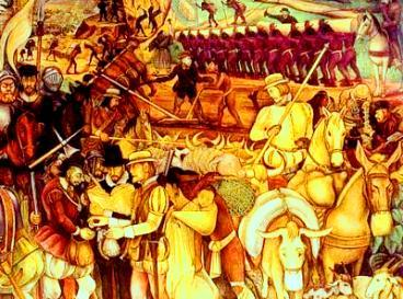 Os espanhóis e sua teia de dominação no ambiente colonial.