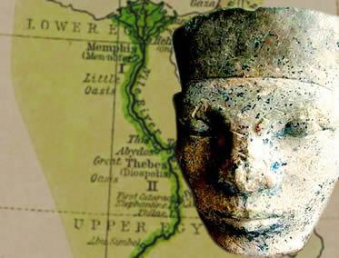 Menés, rei do Alto Egito, responsável pela unificação dos reinos do Vale do rio Nilo.