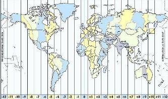 Fusos horários do mundo.