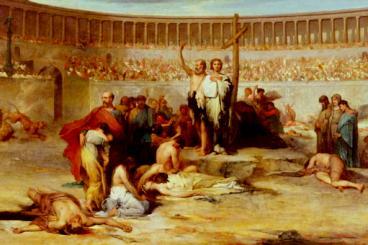 Cristãos perseguidos pelas autoridades romanas.