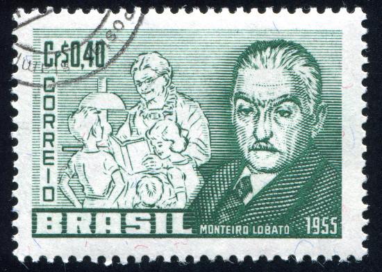 Monteiro Lobato e seus personagens principais*