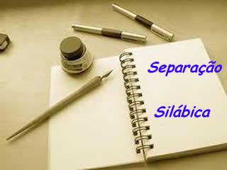 A separação silábica integra uma das competências relacionadas à escrita