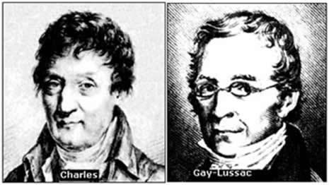 Charles e Gay-Lussac foram dois cientistas franceses que estudaram as transformações isocóricas, criando a Lei que leva seus nomes