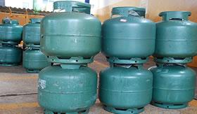 Botijões de gás GLP