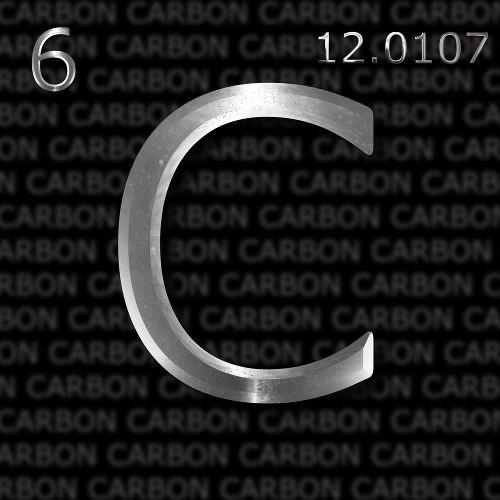 Sigla do carbono, elemento químico que dá nome à família IVA da tabela periódica
