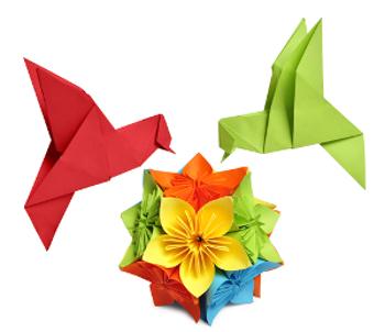 O origami é uma arte milenar muito praticada no Japão
