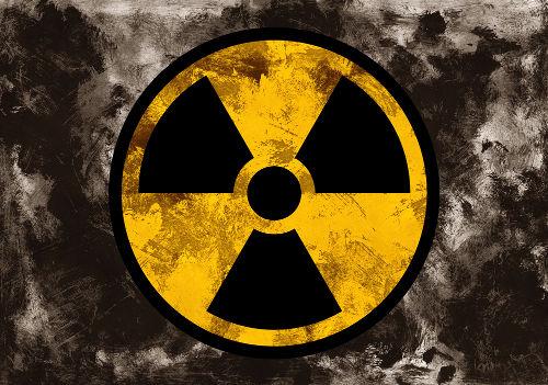 Símbolo utilizado para indicar a presença de um elemento ou material radioativo