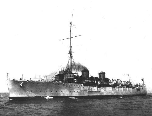 O navio Cruzador Bahia foi uma das embarcações brasileiras enviadas à Primeira Guerra*