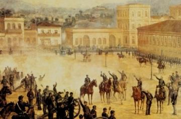 Proclamação da República, um golpe liderado por militares.