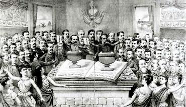 Quadro da eleição constitucional de Deodoro da Fonseca.