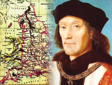Rei Henrique VII, um dos responsáveis pela centralização monárquica na Inglaterra.
