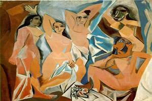 """""""Demoiselles d'Avignon"""" – pintura cubista de Pablo Picasso"""