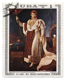 Napoleão Bonaparte com os trajes de sua coroação como Imperador.*