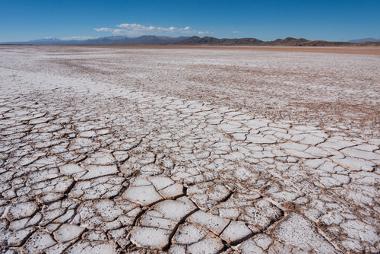 Exemplo de localidade em estágio avançado de salinização do solo