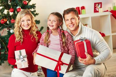 No dia de Natal, 25 de dezembro, a confraternização familiar é uma prática muito comum