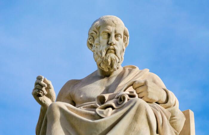 Estátua de Platão, um dos maiores pensadores da Grécia Antiga.