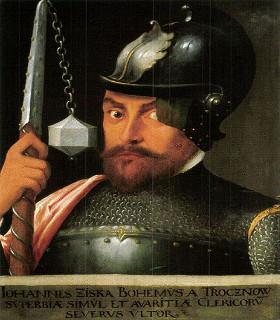 Retrato de Jan Zizka, principal líder dos hussitas