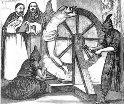 A tortura era considerada pelos inquisidores como uma forma de se buscar a confissão do pecador.