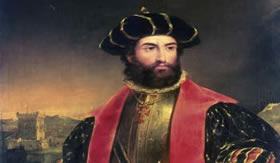 Vasco da Gama, navegante que concretizou a circunavegação do continente africano.