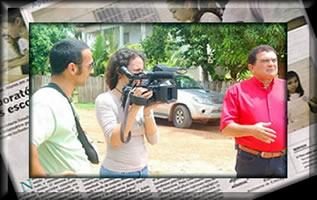 Reportagem escrita e entrevista filmada