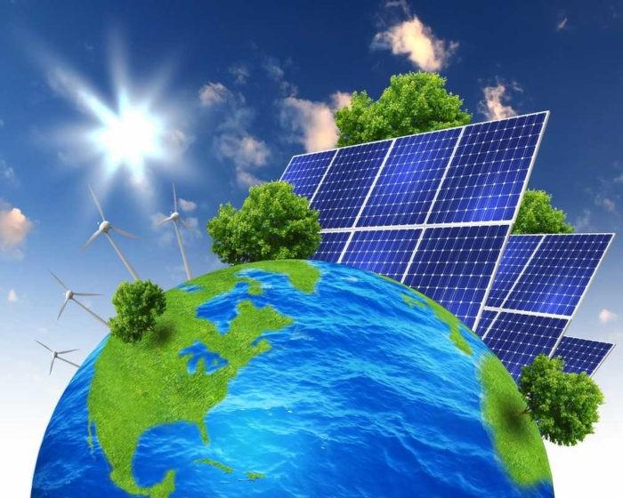 A energia solar e a energia eólica são exemplos de fontes alternativas de energia, as quais provocam pouco impacto negativo no meio ambiente.