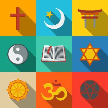 Os símbolos de uma religião carregam significados que representam parte do contexto de crenças seguidas