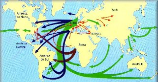 O deslocamento de pessoas no mundo