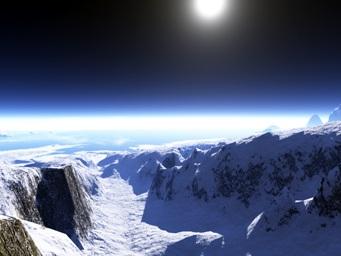 Visão noturna do Ártico.