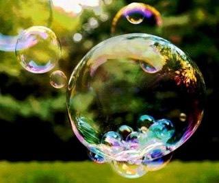 Colorido das bolhas de sabão