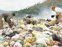 A rotina nos lixões